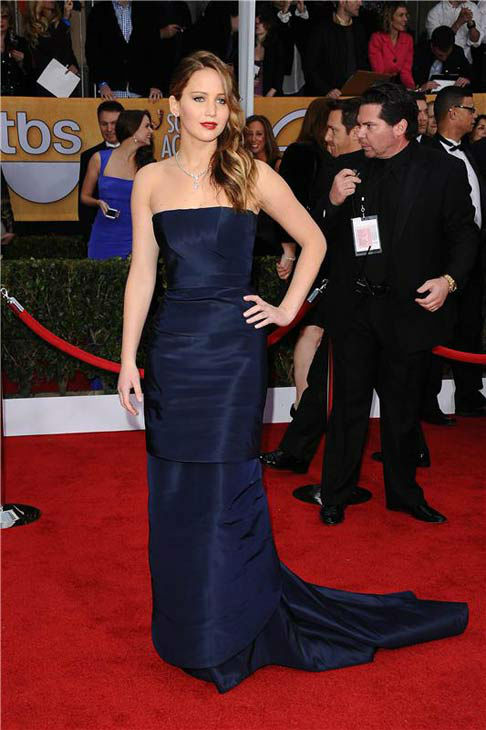 Jennifer Lawrence appears at the 19th Annual Screen Actors Guild Awards on Jan. 27, 2013. <span class=meta>(Kyle Rover&#47;startraksphoto.com)</span>