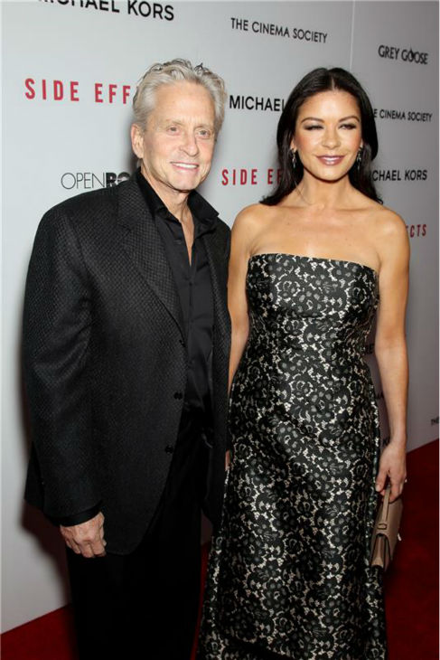 "<div class=""meta image-caption""><div class=""origin-logo origin-image ""><span></span></div><span class=""caption-text"">Michael Douglas and Catherine Zeta-Jones attend the premiere of 'Side Effects' at the AMC theater in Lincoln Square in New York on Jan. 31, 2013. (Marion Curtis / Startraksphoto.com)</span></div>"