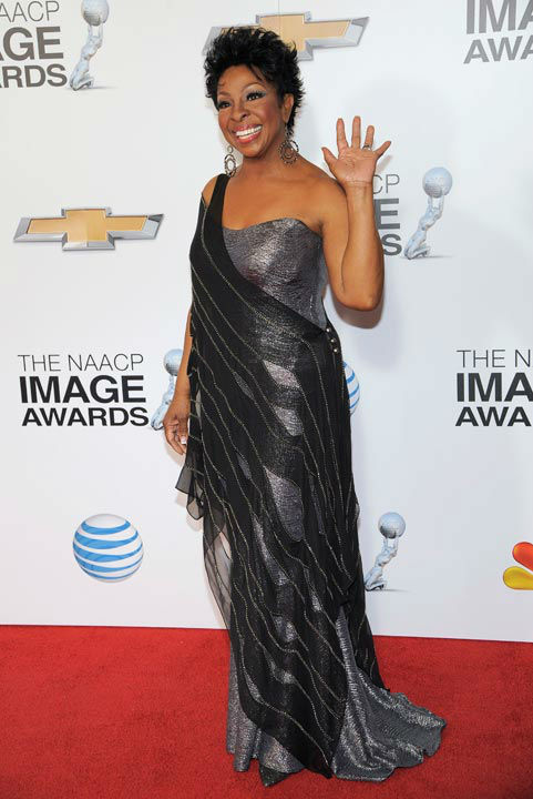 "<div class=""meta ""><span class=""caption-text "">Gladys Knight arrives at the 44th Annual NAACP Image Awards at the Shrine Auditorium in Los Angeles on Friday, Feb. 1, 2013.  (Photo/Chris Pizzello)</span></div>"