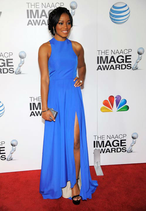 "<div class=""meta ""><span class=""caption-text "">Keke Palmer arrives at the 44th Annual NAACP Image Awards at the Shrine Auditorium in Los Angeles on Friday, Feb. 1, 2013.  (Photo/Chris Pizzello)</span></div>"