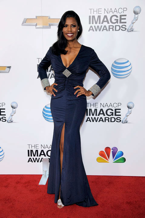 "<div class=""meta ""><span class=""caption-text "">Omarosa Manigault arrives at the 44th Annual NAACP Image Awards at the Shrine Auditorium in Los Angeles on Friday, Feb. 1, 2013. (Photo/Chris Pizzello)</span></div>"