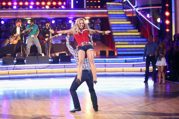 Disney Channel actress Sabrina Bryan and her partner Louis Van Amstel dance on &#39;Dancing With The Stars: All-Stars,&#39; which aired on October 29, 2012. <span class=meta>(ABC Photo &#47; Adam Taylor)</span>