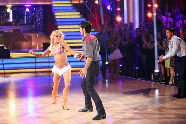 French actor Gilles Marini and his partner Peta Murgatroyd dance on &#39;Dancing With The Stars: All-Stars,&#39; which aired on October 29, 2012. <span class=meta>(ABC Photo &#47; Adam Taylor)</span>