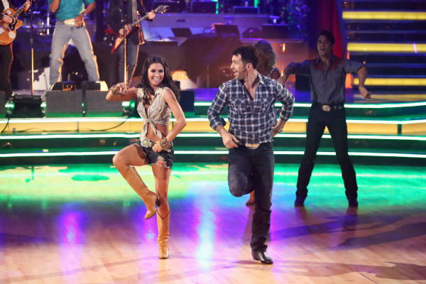 "<div class=""meta ""><span class=""caption-text "">Reality star Melissa Rycroft and her partner Tony Dovolani dance on 'Dancing With The Stars: All-Stars,' which aired on October 29, 2012. (ABC Photo / Adam Taylor)</span></div>"