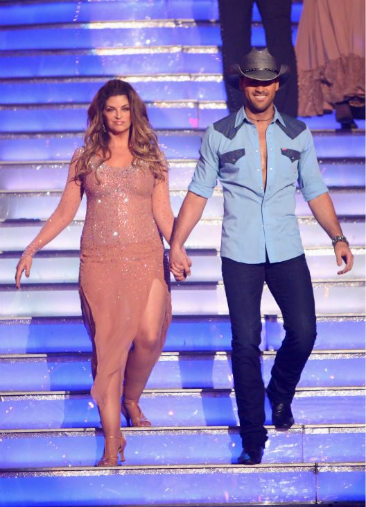 Kirstie Alley and her partner Maksim Chmerkovskiy received 27.5 out of 30 points from the judges for their Rumba on &#39;Dancing With The Stars: All-Stars,&#39; which aired on October 29, 2012. <span class=meta>(ABC Photo &#47; Adam Taylor)</span>