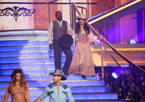 Retired NFL star Emmitt Smith and his partner Cheryl Burke received 26.5 out of 30 points from the judges for their Foxtrot on 'Dancing With The Stars: All-Stars,' which aired on October 29, 2012.