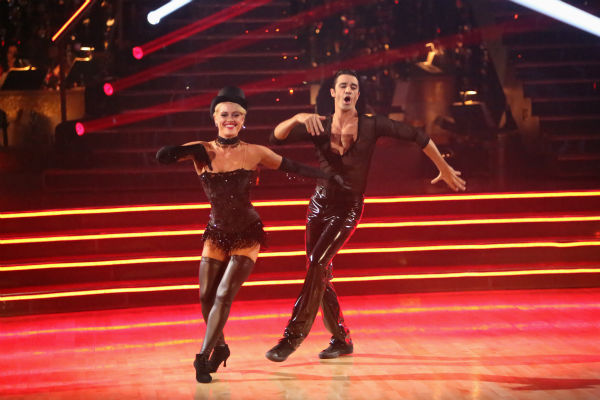 "<div class=""meta ""><span class=""caption-text "">French actor Gilles Marini and his partner Peta Murgatroyd received 27.5 out of 30 points from the judges for their Cha Cha Cha on 'Dancing With The Stars: All-Stars,' which aired on October 29, 2012. (ABC Photo / Adam Taylor)</span></div>"