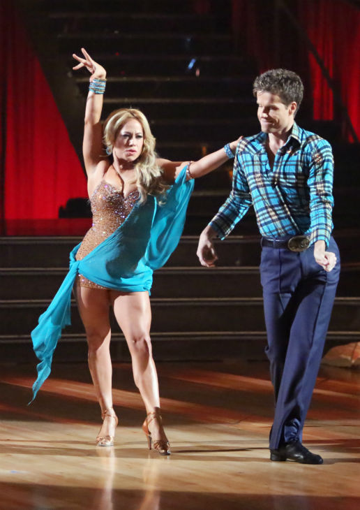 "<div class=""meta image-caption""><div class=""origin-logo origin-image ""><span></span></div><span class=""caption-text"">Disney Channel actress Sabrina Bryan and her partner Louis Van Amstel received 30 out of 30 points from the judges for their Rumba on 'Dancing With The Stars: All-Stars,' which aired on October 29, 2012. (ABC Photo / Adam Taylor)</span></div>"