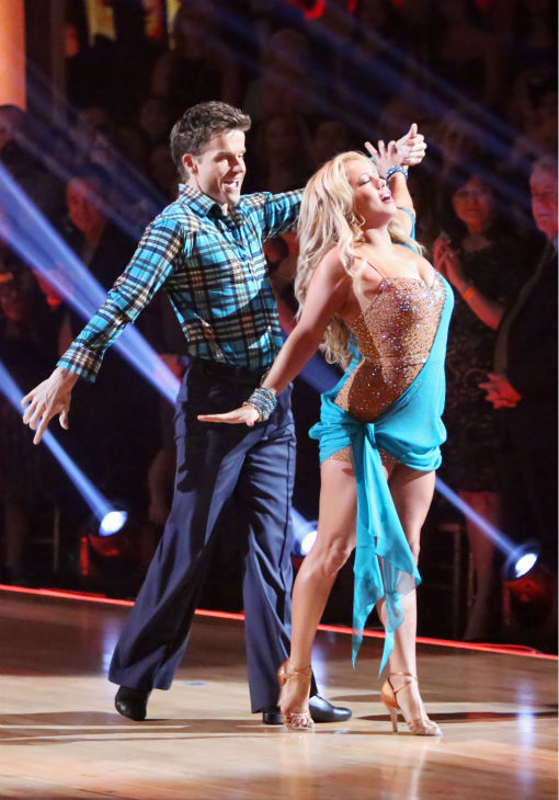 "<div class=""meta ""><span class=""caption-text "">Disney Channel actress Sabrina Bryan and her partner Louis Van Amstel received 30 out of 30 points from the judges for their Rumba on 'Dancing With The Stars: All-Stars,' which aired on October 29, 2012. (ABC Photo / Adam Taylor)</span></div>"