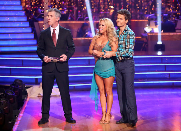 Disney Channel actress Sabrina Bryan and her partner Louis Van Amstel received 30 out of 30 points from the judges for their Rumba on 'Dancing With The Stars: All-Stars,' which aired on October 29, 2012.