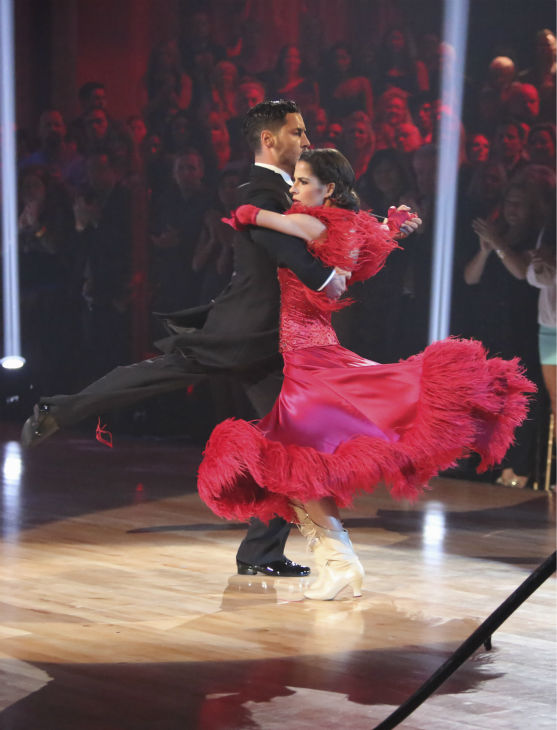 "<div class=""meta image-caption""><div class=""origin-logo origin-image ""><span></span></div><span class=""caption-text"">'General Hospital' actress Kelly Monaco and her partner Valentin Chmerkovskiy received 27 out of 30 points from the judges for their Tango on 'Dancing With The Stars: All-Stars,' which aired on October 29, 2012. (ABC Photo / Adam Taylor)</span></div>"