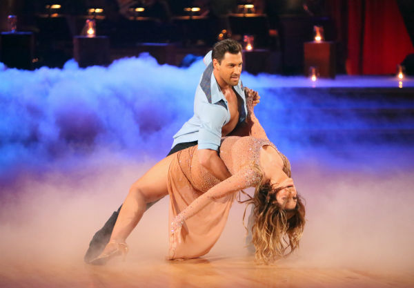 Kirstie Alley and her partner Maksim Chmerkovskiy received 27.5 out of 30 points from the judges for their Rumba on 'Dancing With The Stars: All-Stars,' which aired on October 29, 2012.