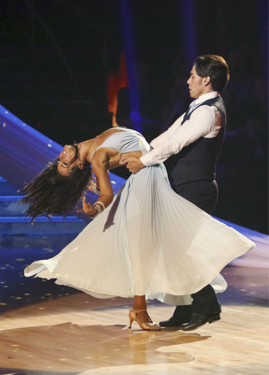 "<div class=""meta ""><span class=""caption-text "">Olympic speed skater Apolo Anton Ohno and his partner Karina Smirnoff received 30 out of 30 points from the judges for their Viennese Waltz on 'Dancing With The Stars: All-Stars,' which aired on October 29, 2012.  (ABC Photo / Adam Taylor)</span></div>"