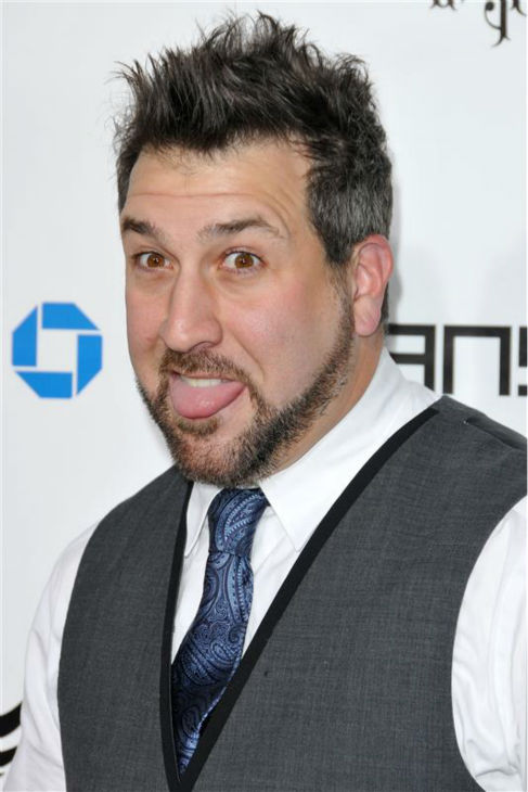 Joey Fatone of &#39;N Sync fame appears at the will.i.am TRANS4M Boyle Heights Benefit Concert in Hollywood, California on Feb. 7, 2013. <span class=meta>(Tony DiMaio &#47; Startraksphoto.com)</span>