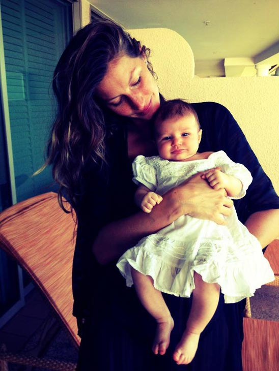 Gisele Bundchen appears in a photo with her daughter Vivian Lake Brady posted on February 8, 2013. - Provided courtesy of facebook.com/Gisele