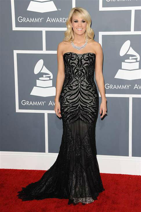Carrie Underwood appears at the 55th annual Grammy Awards in Los Angeles, California on Feb. 10, 2013. <span class=meta>(Kyle Rover &#47; startraksphoto.com)</span>