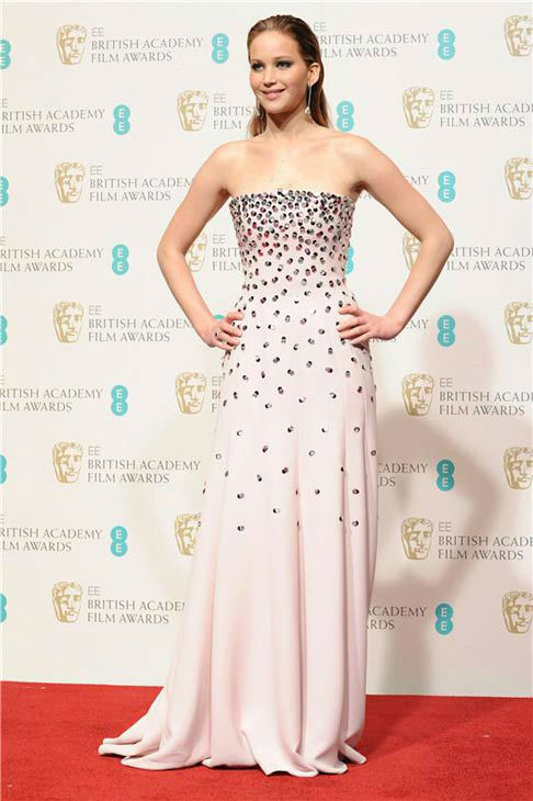 Jennifer Lawrence appears at the 2013 Orange British Academy Film BAFTA Awards on Feb. 10, 2013. <span class=meta>(Richard Kendal&#47;startraksphoto.com)</span>