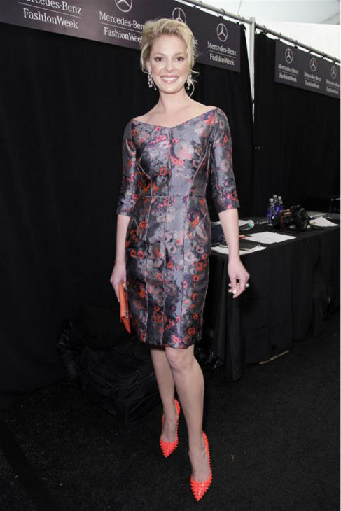 Katherine Heigl appears at the J. Mendel Fall 2013 fashion show during Mercedes-Benz Fashion Week in New York on Feb. 13, 2013. <span class=meta>(Gerardo Somoza &#47; Startraksphoto.com)</span>