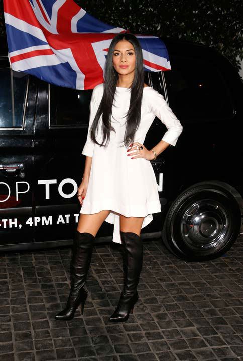 Nicole Scherzinger attends the Topshop Topman LA Opening Party At Cecconi's in Los Angeles, on Wednesday, Feb. 13, 2013 in Los Angeles.