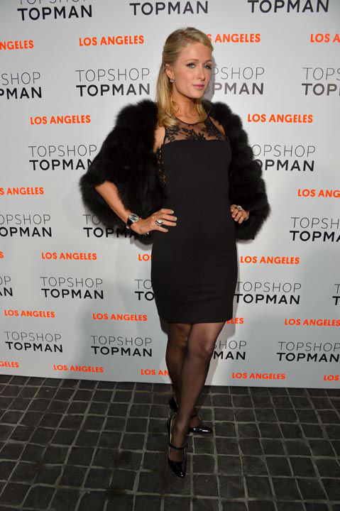 Paris Hilton arrives at the Topshop Topman LA...