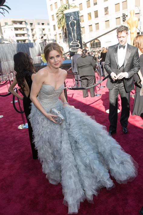 Amy Adams, Oscar-nominee for Performance by an Actress in a Supporting Role, arrives for The Oscars at the Dolby Theatre in Hollywood, Calif., on Sunday, Feb. 24, 2013. <span class=meta>(Todd Wawrychuk&#47;A.M.P.A.S.)</span>