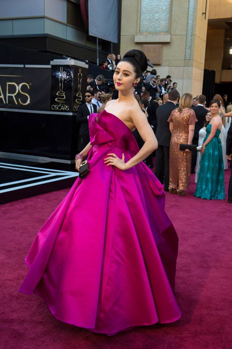 "<div class=""meta ""><span class=""caption-text "">Actress Fan Bingbing arrives for The Oscars at the Dolby Theatre in Hollywood on February 24, 2013. (Matt Petit/A.M.P.A.S.)</span></div>"