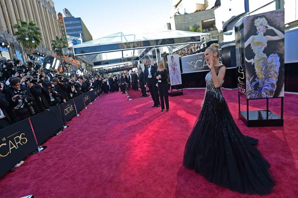 Kristin Chenoweth arrives for The Oscars at the...
