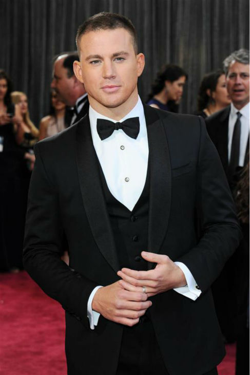 The &#39;Here&#39;s-How-You-Make-The-Oscars-Even-Better&#39; stare: Channing Tatum appears at the 2013 Oscars in Hollywood, California on Feb. 24, 2013. <span class=meta>(Noel Crawford &#47; Startraksphoto.com)</span>
