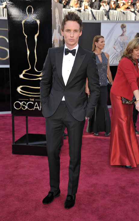 Actor Eddie Redmayne arrives at the 85th Academy Awards at the Dolby Theatre on Sunday Feb. 24, 2013, in Los Angeles.