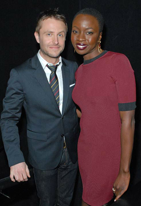 Photo of Chris Hardwick and Danai Gurira courtesy of Samsung Galaxy, during the Paley Center for Media&#39;s PaleyFest, honoring The Walking Dead, at the Saban Theatre, Friday March 1, 2013 in Los Angeles, California. <span class=meta>(Photo&#47;Kevin Parry for PaleyFest Media)</span>