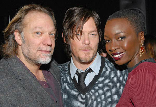 Photo of Greg Nicotero, Norman Reedus and Danai Gurira courtesy of Samsung Galaxy, during the Paley Center for Media&#39;s PaleyFest, honoring The Walking Dead, at the Saban Theatre, Friday March 1, 2013 in Los Angeles, California. <span class=meta>(Photo&#47;Kevin Parry for PaleyFest Media)</span>