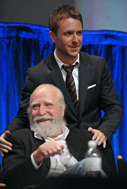 "<div class=""meta ""><span class=""caption-text "">Photo of  Scott Wilson and Chris Hardwick courtesy of Samsung Galaxy, during the Paley Center for Media's PaleyFest, honoring The Walking Dead, at the Saban Theatre, Friday March 1, 2013 in Los Angeles, California. (Photo/Kevin Parry for PaleyFest Media)</span></div>"