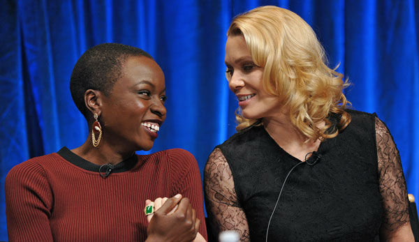"<div class=""meta ""><span class=""caption-text "">Photo of Danai Gurira and Laurie Holden courtesy of Samsung Galaxy, during the Paley Center for Media's PaleyFest, honoring The Walking Dead, at the Saban Theatre, Friday March 1, 2013 in Los Angeles, California. (Photo/Kevin Parry for PaleyFest Media)</span></div>"