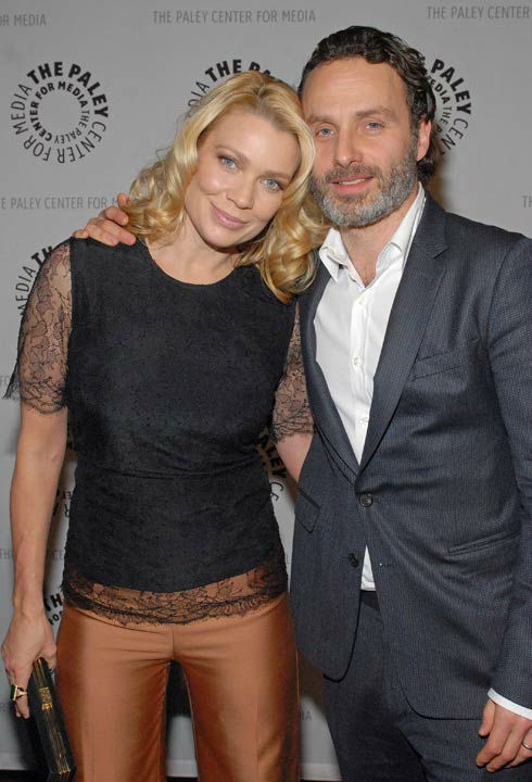 "<div class=""meta ""><span class=""caption-text "">Photo of Laurie Holden and Andrew Lincoln courtesy of Samsung Galaxy, during the Paley Center for Media's PaleyFest, honoring The Walking Dead, at the Saban Theatre, Friday March 1, 2013 in Los Angeles, California. (Photo/Kevin Parry for PaleyFest Media)</span></div>"