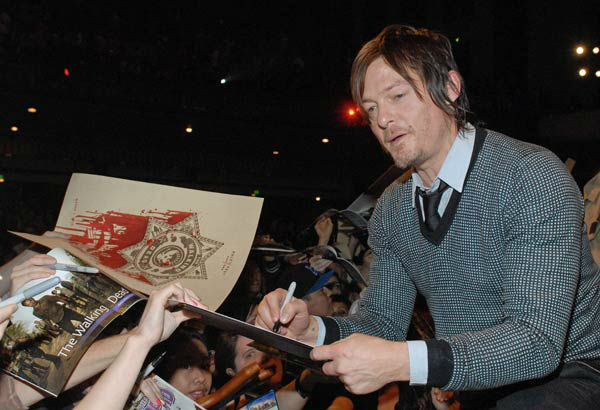 "<div class=""meta image-caption""><div class=""origin-logo origin-image ""><span></span></div><span class=""caption-text"">Photo of Norman Reedus courtesy of Samsung Galaxy, during the Paley Center for Media's PaleyFest, honoring The Walking Dead, at the Saban Theatre, Friday March 1, 2013 in Los Angeles, California. (Photo/Kevin Parry for PaleyFest Media)</span></div>"