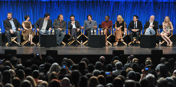 "<div class=""meta image-caption""><div class=""origin-logo origin-image ""><span></span></div><span class=""caption-text"">Photo of the cast of 'The Walking Dead' courtesy of Samsung Galaxy, during the Paley Center for Media's PaleyFest, honoring The Walking Dead, at the Saban Theatre, Friday March 1, 2013 in Los Angeles, California. (Photo/Kevin Parry for PaleyFest Media)</span></div>"
