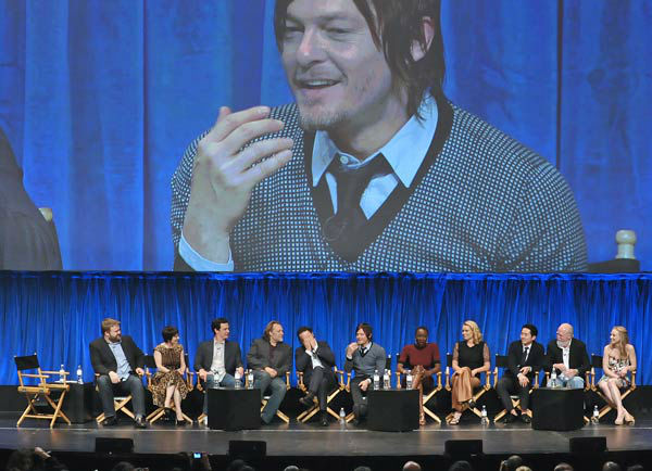 Photo of the cast of &#39;The Walking Dead&#39; courtesy of Samsung Galaxy, during the Paley Center for Media&#39;s PaleyFest, honoring The Walking Dead, at the Saban Theatre, Friday March 1, 2013 in Los Angeles, California. <span class=meta>(Photo&#47;Kevin Parry for PaleyFest Media)</span>
