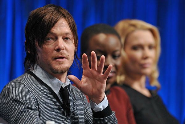 "<div class=""meta image-caption""><div class=""origin-logo origin-image ""><span></span></div><span class=""caption-text"">Photo of Normal Reedus courtesy of Samsung Galaxy, during the Paley Center for Media's PaleyFest, honoring The Walking Dead, at the Saban Theatre, Friday March 1, 2013 in Los Angeles, California. (Photo/Kevin Parry for PaleyFest Media)</span></div>"