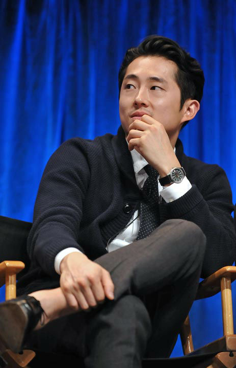 Photo of Steven Yeun courtesy of Samsung Galaxy, during the Paley Center for Media&#39;s PaleyFest, honoring The Walking Dead, at the Saban Theatre, Friday March 1, 2013 in Los Angeles, California. <span class=meta>(Photo&#47;Kevin Parry for PaleyFest Media)</span>