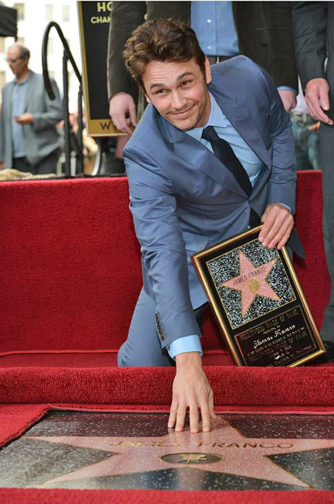 "<div class=""meta image-caption""><div class=""origin-logo origin-image ""><span></span></div><span class=""caption-text"">Actor James Franco attends a ceremony honoring him with a star on The Hollywood Walk of Fame on March 7, 2013 in Hollywood, California.   (Alberto E. Rodriguez/WireImage)</span></div>"
