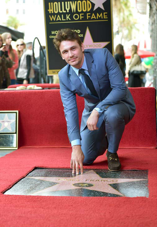 Actor James Franco attends a ceremony honoring him with a star on The Hollywood Walk of Fame on March 7, 2013 in Hollywood, California.   <span class=meta>(Alberto E. Rodriguez&#47;WireImage)</span>