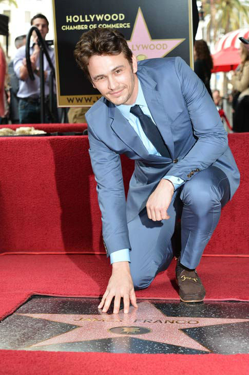 Actor James Franco attends a ceremony honoring...