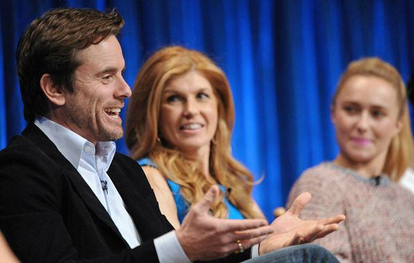 Photo of Connie Britton and Charles Esten taken during the Paley Center for Media&#39;s PaleyFest, honoring the cast of &#39;Nashville&#39; at the Saban Theatre, Saturday March 9, 2013 in Los Angeles, California. <span class=meta>(Photo&#47;Kevin Parry for Paley Center for Media)</span>