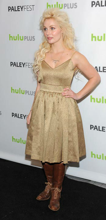 Photo of Clare Bowen taken during the Paley Center for Media's PaleyFest, honoring the cast of 'Nashville' at the Saban Theatre, Saturday March 9, 2013 in Los Angeles, California.