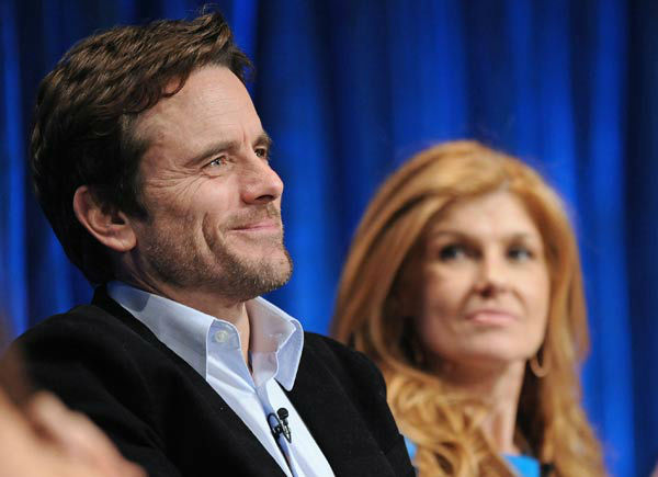 Photo of Charles Esten and Connie Britton taken...