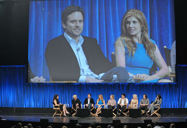 Photo of Connie Britton and Charles Esten during...