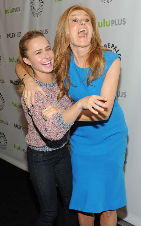 "<div class=""meta ""><span class=""caption-text "">Photo of Connie Britton and Hayden Panettiere during the Paley Center for Media's PaleyFest, honoring the cast of 'Nashville' at the Saban Theatre, Saturday March 9, 2013 in Los Angeles, California. (Photo/Kevin Parry for Paley Center for Media)</span></div>"