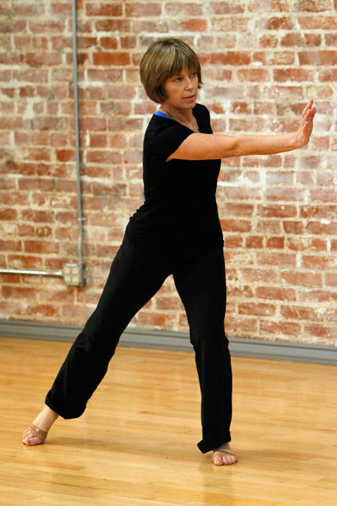 &#39;Dancing With The Stars&#39; season 16 cast member Dorothy Hamill rehearses ahead of the premiere on March 18, 2013. <span class=meta>(ABC Photo&#47; Rick Rowell)</span>