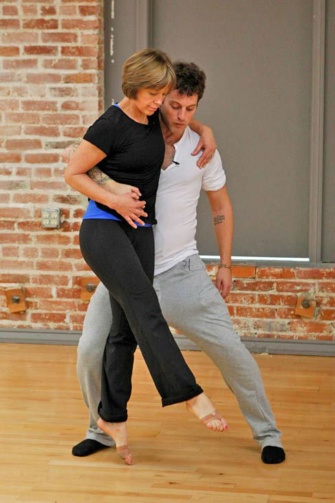 "<div class=""meta ""><span class=""caption-text "">'Dancing With The Stars' season 16 cast members Dorothy Hamill and partner Tristan Macmanus rehearse ahead of the premiere on March 18, 2013. (ABC Photo/ Rick Rowell)</span></div>"