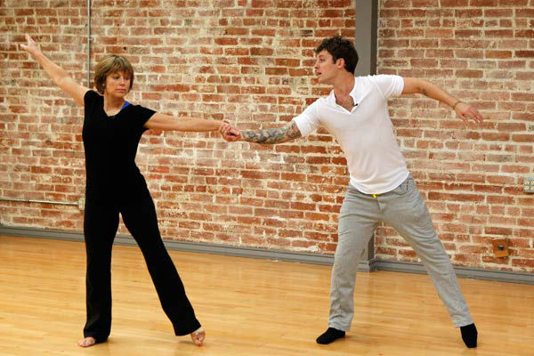 &#39;Dancing With The Stars&#39; season 16 cast members Dorothy Hamill and partner Tristan Macmanus rehearse ahead of the premiere on March 18, 2013. <span class=meta>(ABC Photo&#47; Rick Rowell)</span>